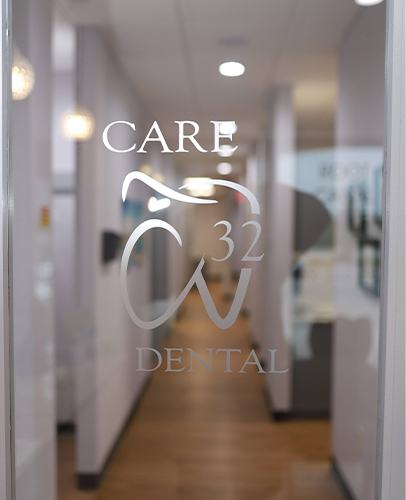 Front entrance of Care 32 Dental