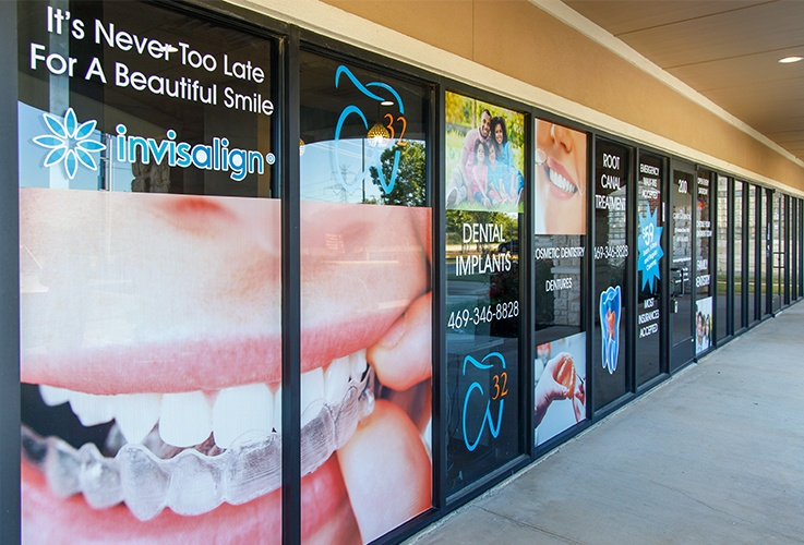 Front doors of Care 32 Dental